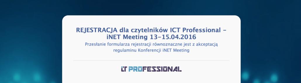 Link do rejestracji dla subskrybentów ICT Professional
